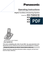 Cordless Manual - Panasonic - KX-TG8321E Operating Instructions