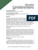 Análise Do Nível de Capacitação Dos Profissionais de Educação Física Atuantes No Ensino Médio Da Rede Pública