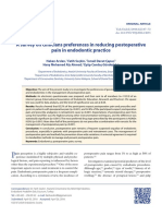 A survey on clinicians preferences in reducing postoperative  pain in endodontic practice