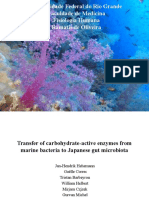 Seminário Fisiologia - Transfer of carbohydrate-active enzymes frommarine bacteria to Japanese gut microbiota