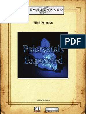 Dreamscarred Press - High Psionics - Psicrystals Expanded