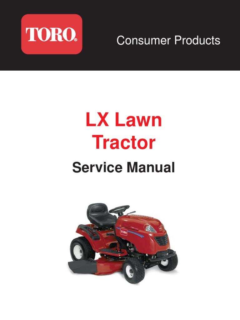 toro xl lawn tractor repair service manual