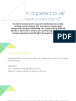 Why is It Important to Vary Sentence Structure