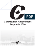 2016 Conservative Convention - Constitutional Resolutions