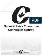 2016 Conservative Convention - Policy Resolutions