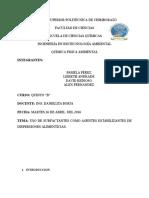 Trabajo Sobre El Uso de Surfactantes en La Industria Alimenticia