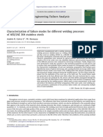 Characterization of Failure Modes for Different Welding Processes