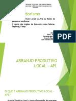 Trabalho - Empreendedorismo - APL - Eloir, Fernando, Leandro e Lucas