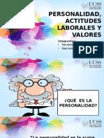 Personalidad, Actitudes Laborales y Valores1.Docx