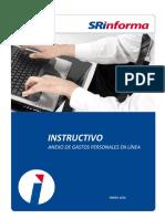 Instructivo Anexo Gastos Personales Enero 2016