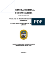 Plan de Trabajo Congreso Internacional