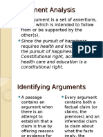 Argument Analysis
