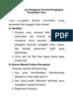 Petunjuk Teknis Pengisian Format Pengkajian Kesehatan Jiwa