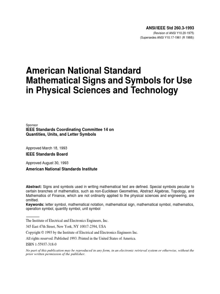 Ansi ieee std 2603 1993 american national standard mathematical ansi ieee std 2603 1993 american national standard mathematical signs and symbols for use in physical sciences and technology 00278297 trigonometric buycottarizona Images