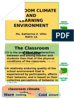 Classroom Climate and Learning Environment
