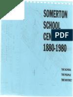 Somerton School Centenary 1880-1980