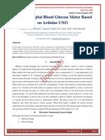 Glucose Meter Oxidase Arduino Uno