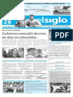 Edición Impresa El Siglo 28-05-2016