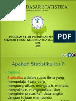 Kuliah Statistika Elementer Pertemuan 1