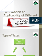 Presentation on Applicability of Different Tax Regimes In