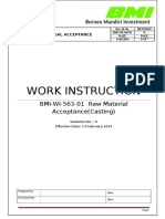 BMI WI 563 01 Raw Material Acceptance