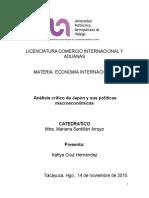 japon y Politicas Macroeconomicas