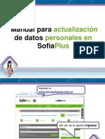 Manual Actulizacion Datos Sofiaplus