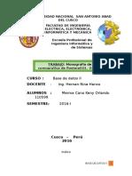 Monografía de Comparativa de PostgreSQL