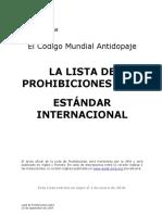 WADA 2010 Lista de Prohibiciones Final