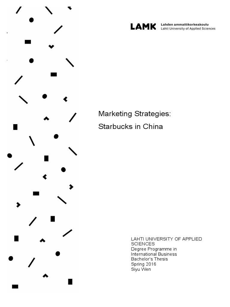 Marketing Strategies Starbucks In China Swot Analysis