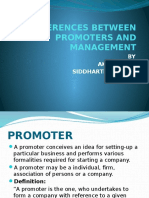 Differences Between Promoters and Management