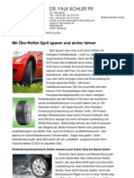 Mit Öko-Reifen Sprit sparen und sicher fahren