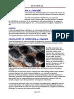 Corrosion Allowance