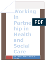 Working in Partnership in Health and Social Care