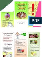 leaflet Tanda Bahaya Bayi Baru Lahir