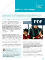25130 Cambridge Primary English as a Second Language Curriculum Outline