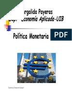 Politica Monetaria Europea
