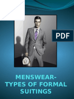 Menswear Types of Formal Suitings