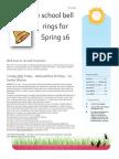 Spring 16 Newsletter Feb 2015