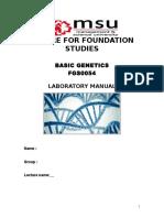 lab manual genetics