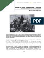 Retrato de Una Escuela Rural Femenina de La Posguerra - Miriam Sonlleva Velasco
