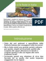 Web Quest:Il Cibo e Le Feste in Italia