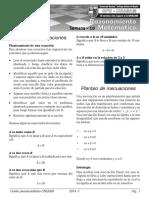 Planteo de Ecuaciones - Inecuaciones - Ec Exponenciales Cpu Unasam Ciclo Regular 2014 - i