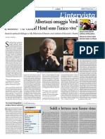 intervista a Giorgio Albertazzi per La Sera di Parma