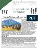 Redwood Unit Newsletter, June 2009 ~ Back Country Horsemen of California