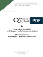 Cuaderns d'Italià - 06 (2001) - Maschile-femminile Nella Lingua e Letteratura Italiana