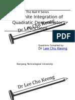 Indefinite Integration - Quadratic Denominator (SQ) - Questions.docx