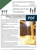 Redwood Unit Newsletter, May 2009 ~ Back Country Horsemen of California