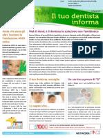 Il Tuo Dentista Informa - Newsletter Aprile 2016