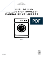 Manual Lavarropa Electrolux